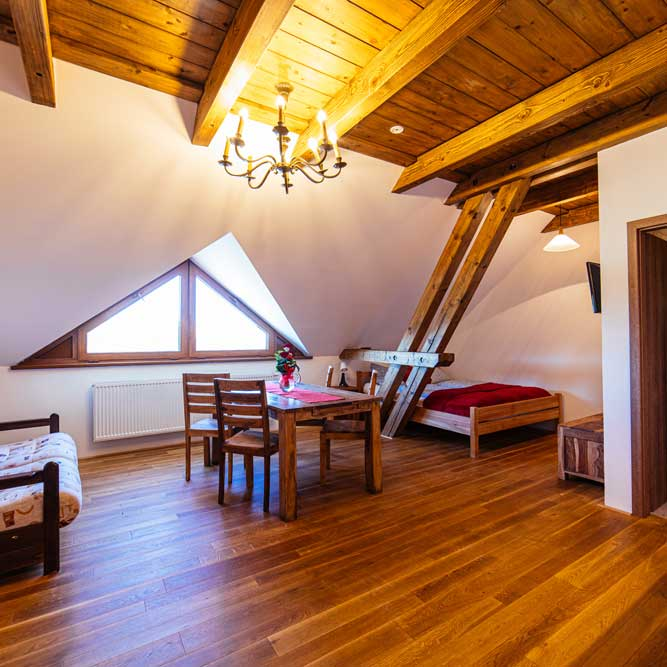 Double bedroom apartment at Ranch Milovice